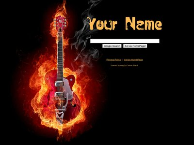 Burning Guitar Theme