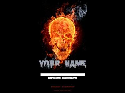 Burning Skulls Theme