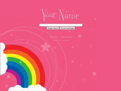 Pink Rainbow Theme