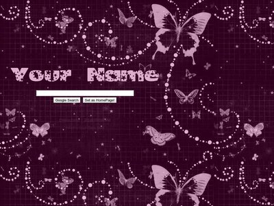 Purple Butterfly Theme
